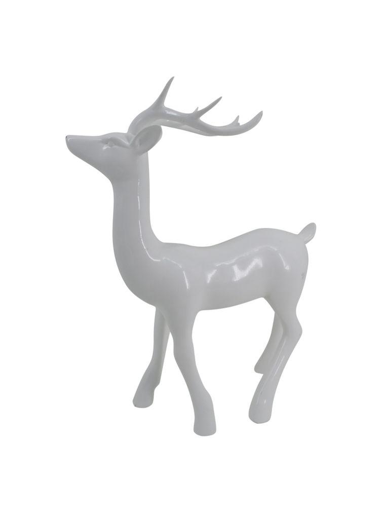 Cerf debout blanc