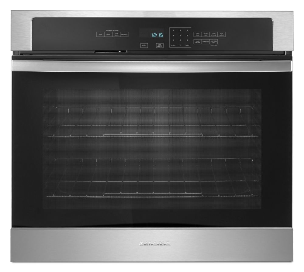 Amana 27-inch 4.3 cu.ft. Single Electic Wall Oven Self Cleaning in Stainless Steel