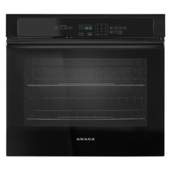 Amana 30-inch 5.0 cu. ft. Single Electric Wall Oven Self-Cleaning in Black