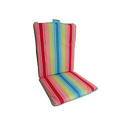 Bozanto Inc. 19 x 44 x 2 inch Highback Patio Dining Chair Cushion in Multi-Colour Stripe
