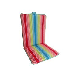 Bozanto Inc. 19 x 44 x 2 inch Highback Patio Dining Chair Cushion in Multi-Colour Stripe