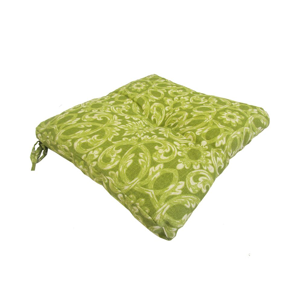 Bozanto Inc. 17 x 18 x 4.5 inch Outdoor Seat Cushion in Floral Green