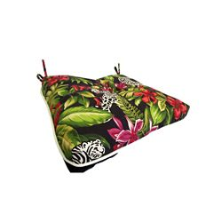 Bozanto Inc. 17 x 18 x 4.5 inch Reversible Outdoor Seat Cushion with Multic-colour Piping