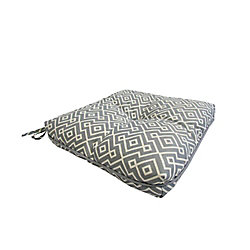 Bozanto Inc. 17 x 18 x 4.5 inch Outdoor Seat Cushion with Piping in Grey