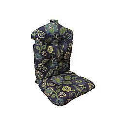 Bozanto Inc. 20 x 47 x 4.5 inch Highback Patio Conversation Chair Cushion in Blue Floral