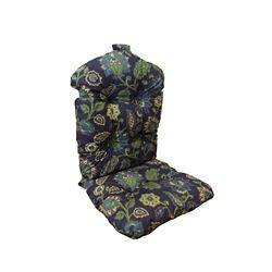 Bozanto Inc. 20 x 47 x 4.5 inch Highback Patio Conversation Chair Cushion in Blue Floral
