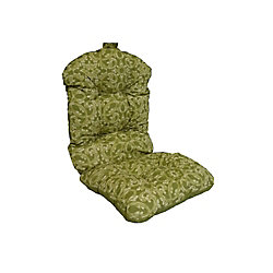 Bozanto Inc. 20 x 47 x 4.5 inch Reversible Dining Chair High Back Cushion with Green Floral