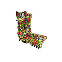 Bozanto Inc. 20 x 47 x 4.5 inch Reversible Dining Chair Highback Cushion in Multi-Colour Floral
