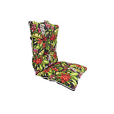 Reversible Dining Chair Highback Cushion in Multi-Colour Floral