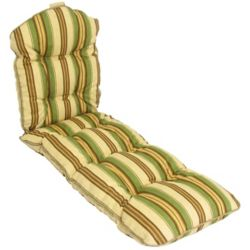 Bozanto Inc. Cushion in stripe green on both sides.