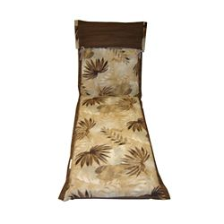 Bozanto Inc. Reversible Chaise Lounge Patio Cushion in Yellow Tropical Pattern