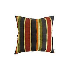 16 x 16 x 6 inch Outdoor Conversation Chair Toss Cushion in Multi-Colour Stripe