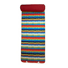 Beach Mat with Pillow in Multi-Colour Pattern