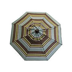 8 ft. Steel Frame Patio Umbrella in Multi-Colour Stripe