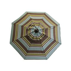 Bozanto Inc. 8 ft. Steel Frame Patio Umbrella in Multi-Colour Stripe