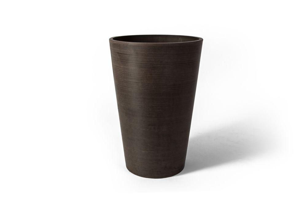 Valencia Round Planter Pot, 16.25 Inch X 23.75 Inch H, Textured Brown