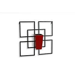 Algreen Products Vida1 Wall Art with Red Self-Watering Planter