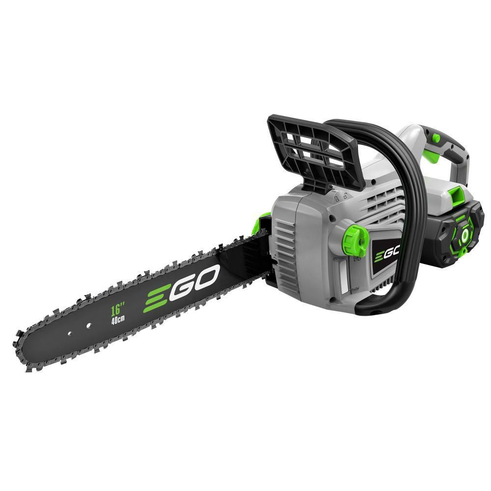 EGO 16-inch 56V Li-Ion Cordless Chainsaw with 5.0Ah Battery and Charger Included
