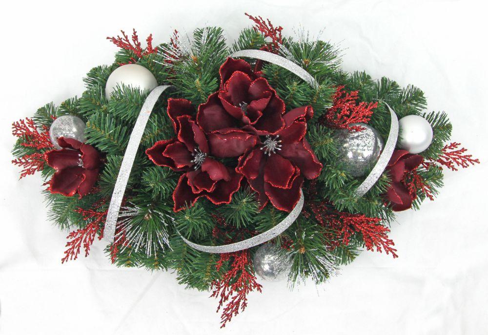 30 inch Red/Silver Magnolia Centerprice