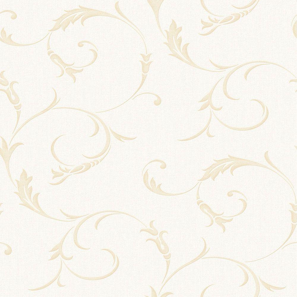 Athena Papier Peint Or Blanc