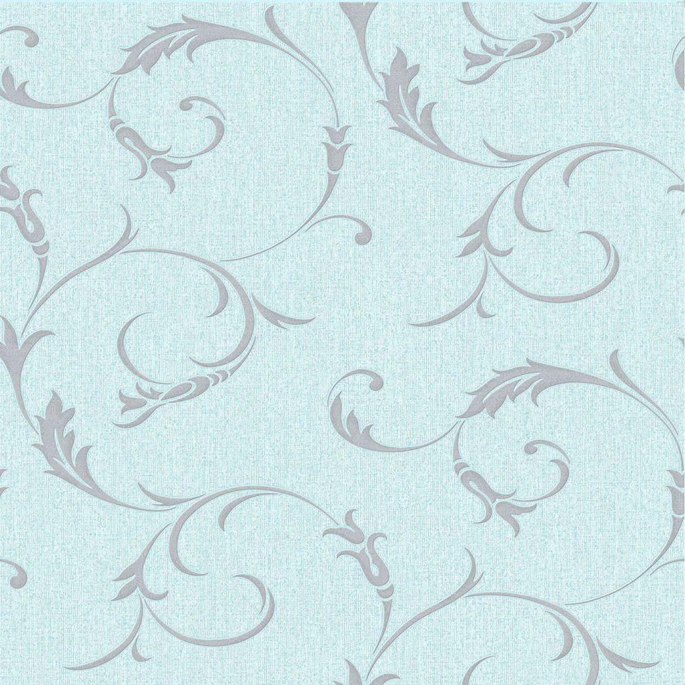Athena Papier Peint Bleu oeuf de canard