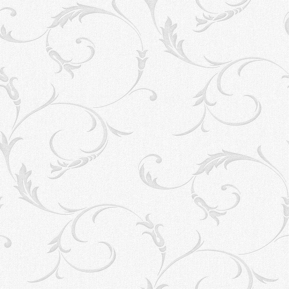 Athena Grey/White Wallpaper