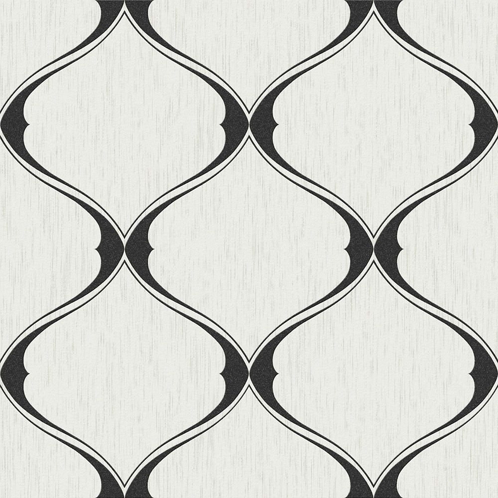 Olympe Papier Peint Noir/Blanc