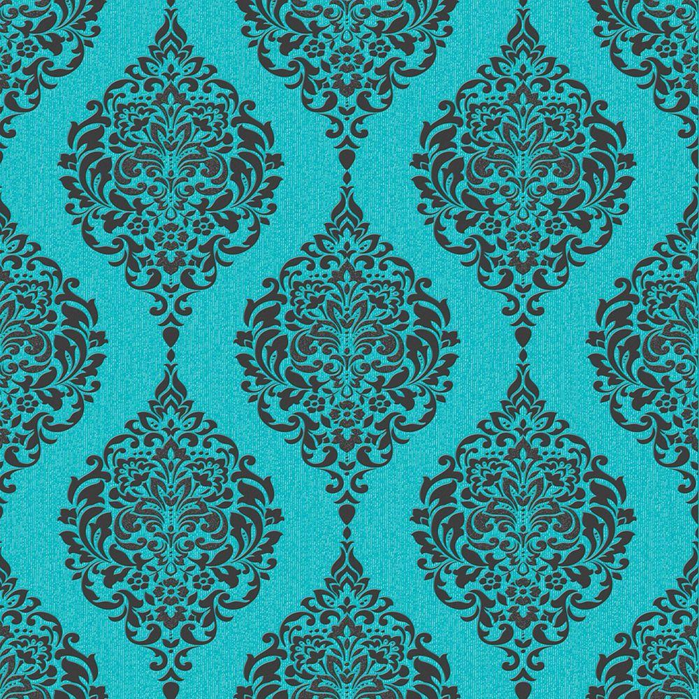 Luna Papier Peint Turquoise