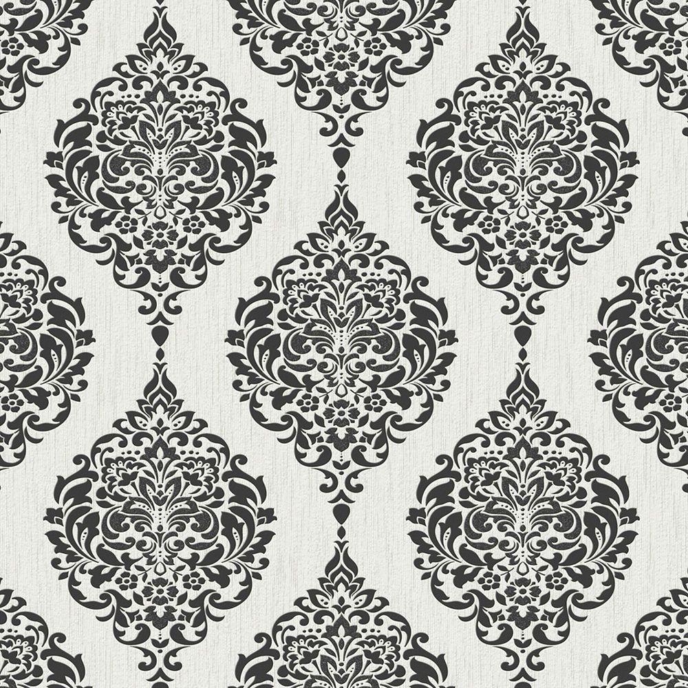 Luna Black & White Midas Wallpaper