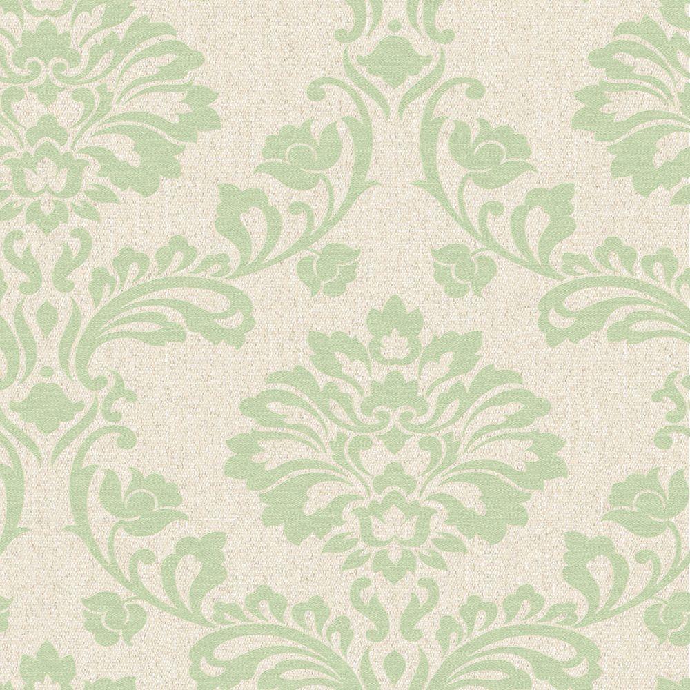 Aurora Green/Cream Wallpaper