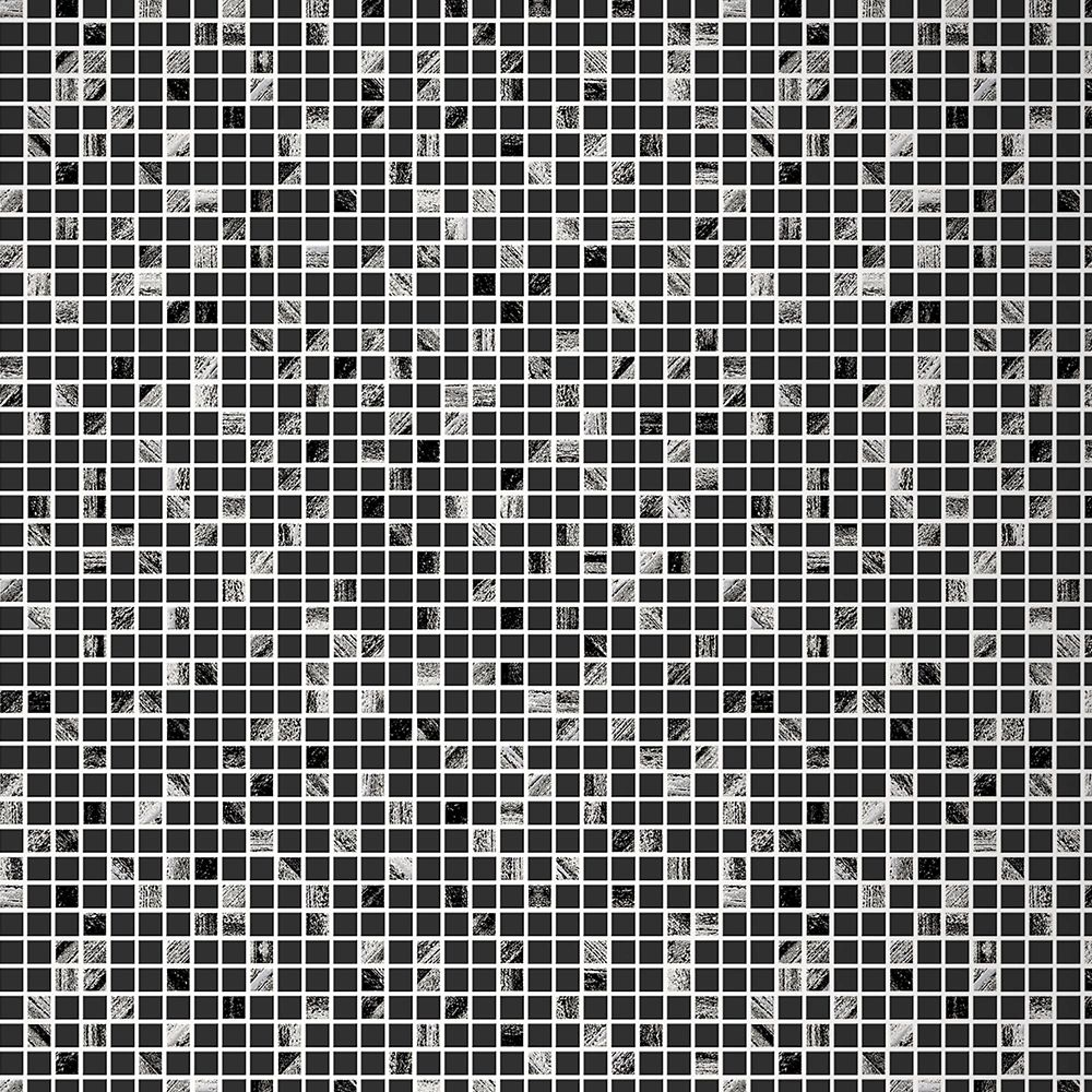 Aurora Tile Black/Silver Wallpaper