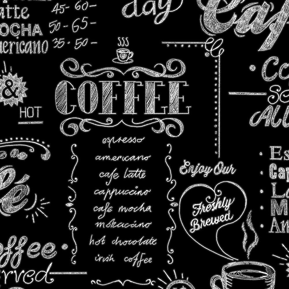 Café Papier Peint Noir/Blanc