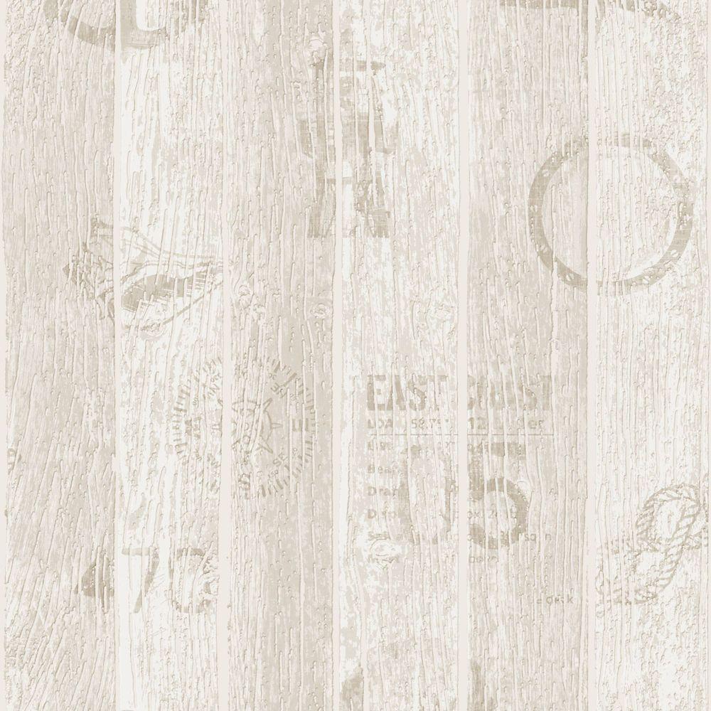 Nautical Beige Modern Living Wallpaper