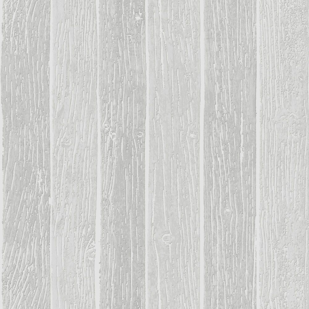 Nautical Woodgrain Grey Wallpaper