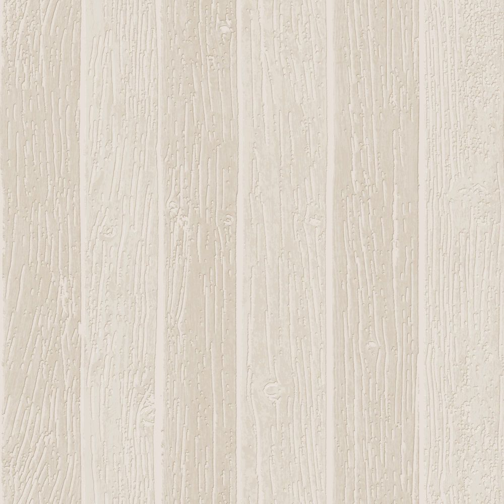 Nautical Woodgrain Beige Modern Living Wallpaper
