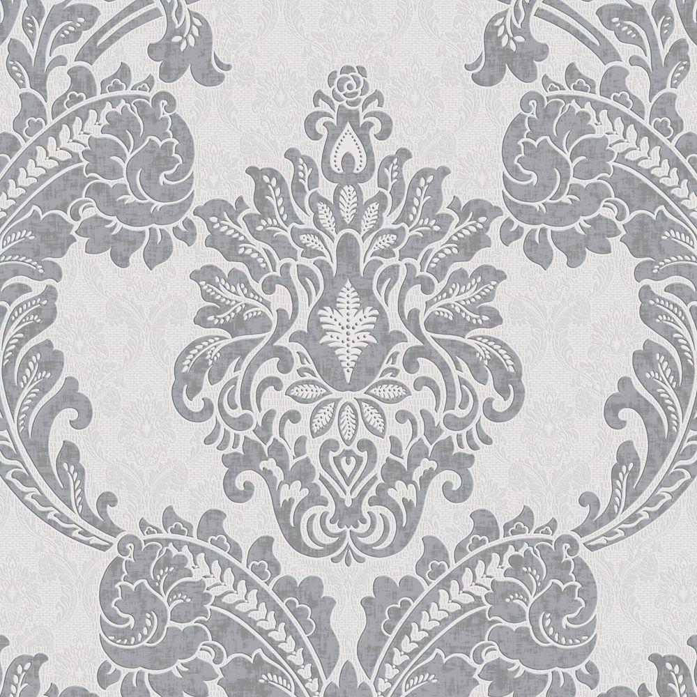 Regent Charcoal/Grey Wallpaper