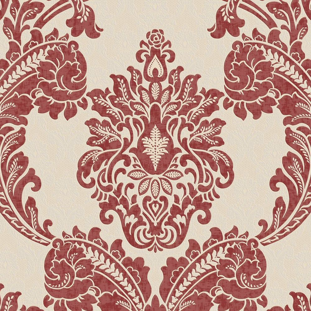 Regent Red/Cream Wallpaper