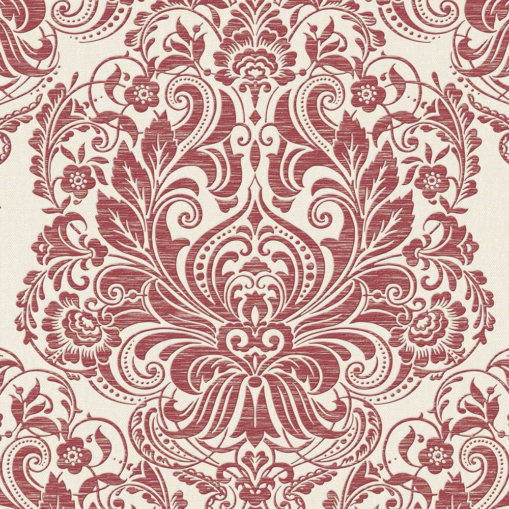Melody Red/Cream Wallpaper