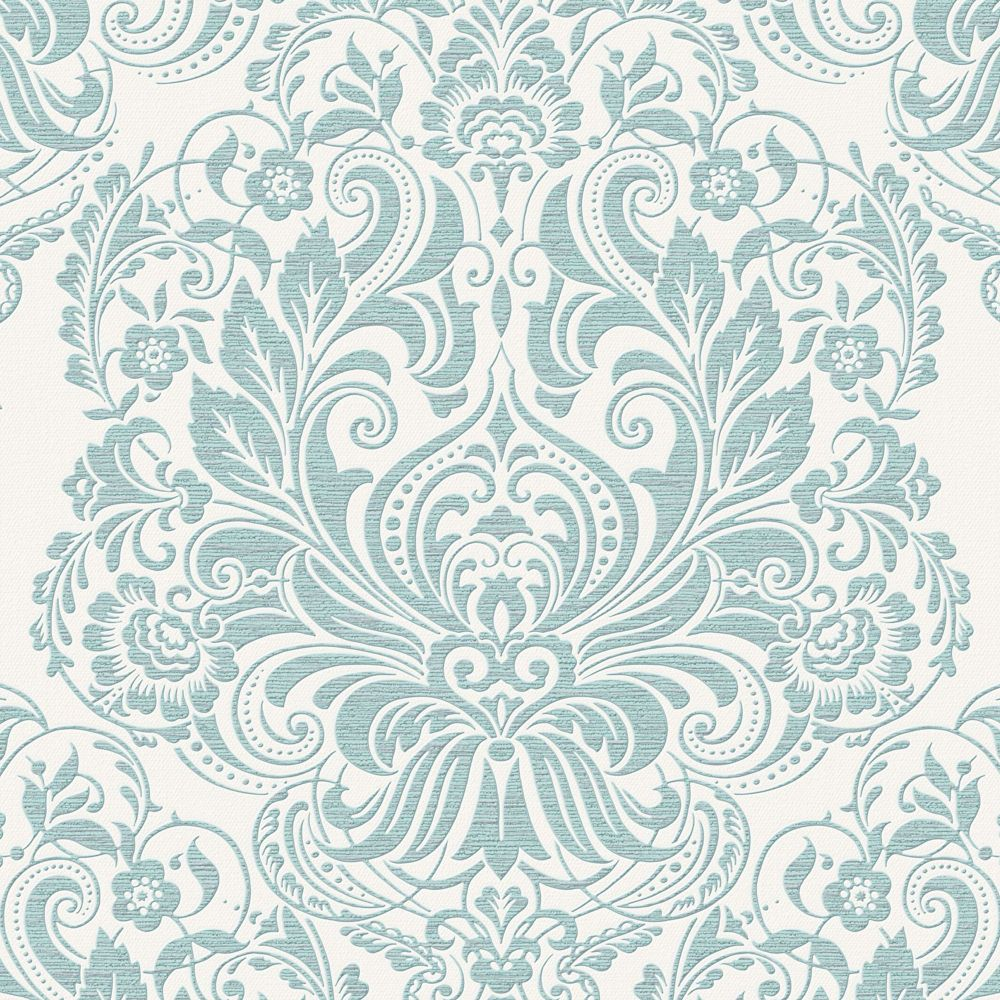 Graham & Brown Melody Duck Egg/Silver Wallpaper