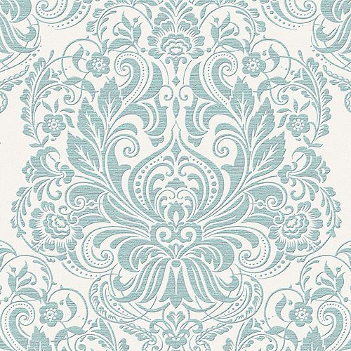 Graham & Brown Melody Duck Egg/Silver Wallpaper