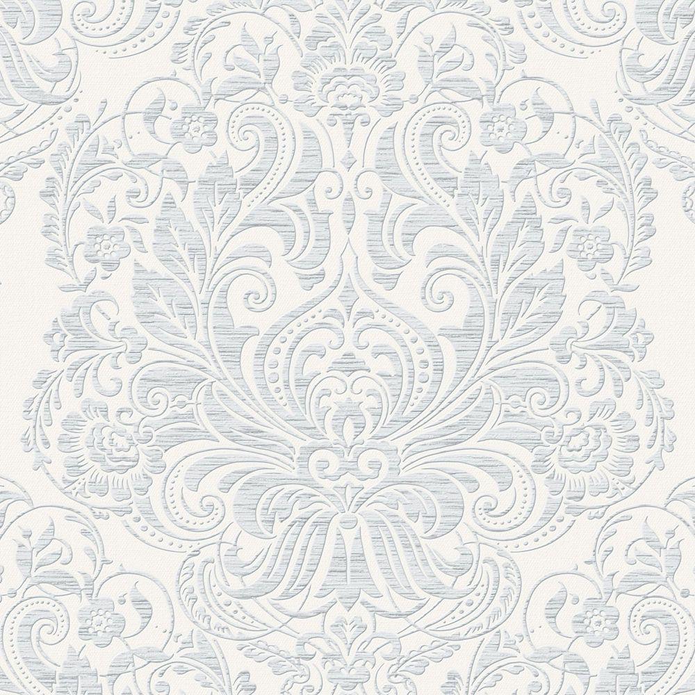 Melody Grey/White Wallpaper