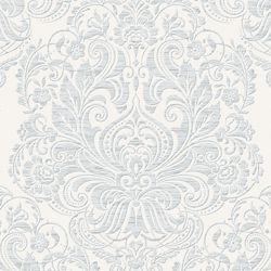 Graham & Brown Melody Palais Papier Peint Gris/Blanc