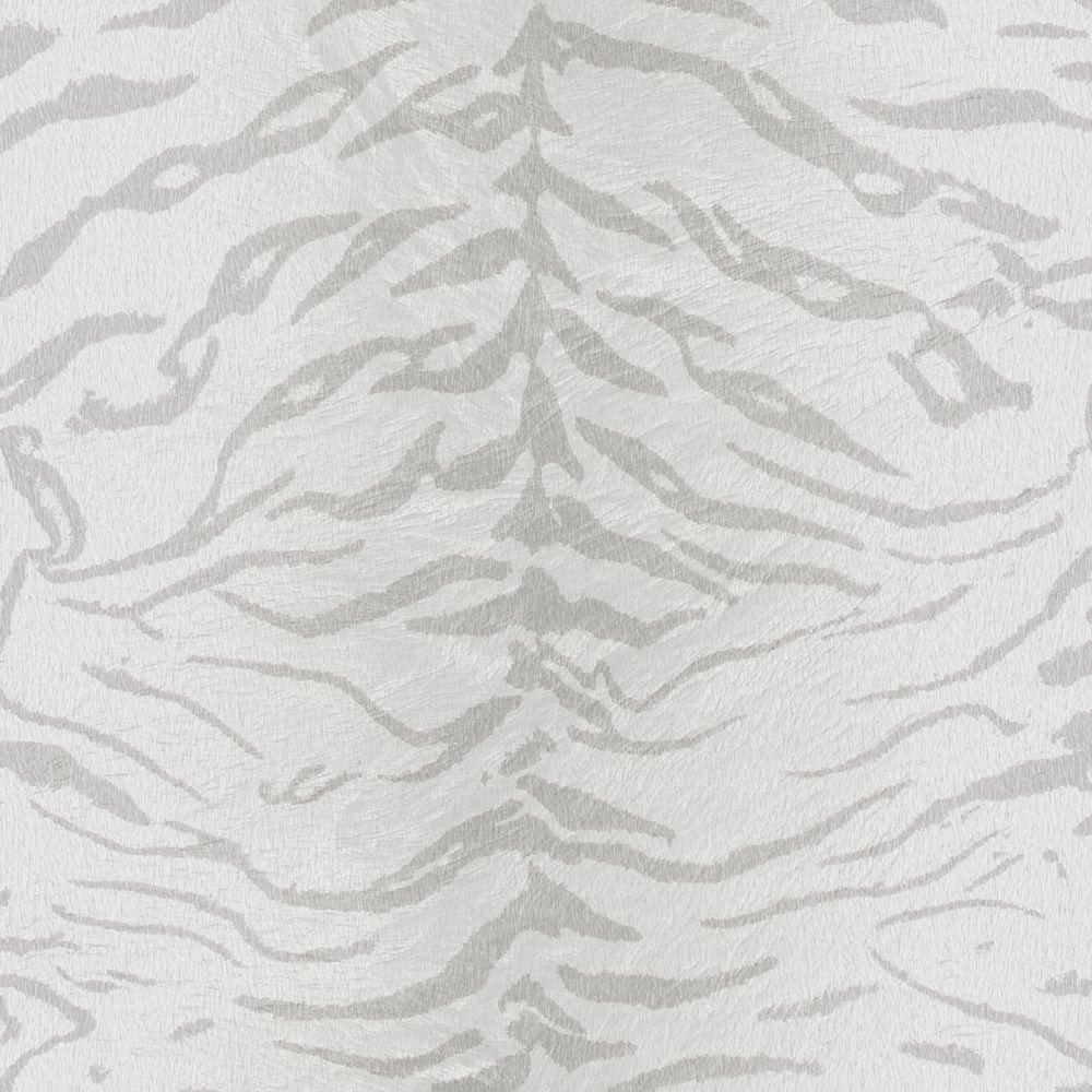 Tigrée Papier Peint Blanc/Argent