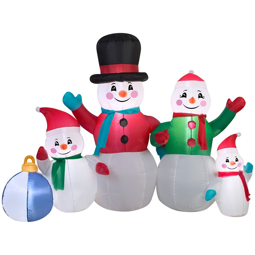 Inflatable Snowman Family