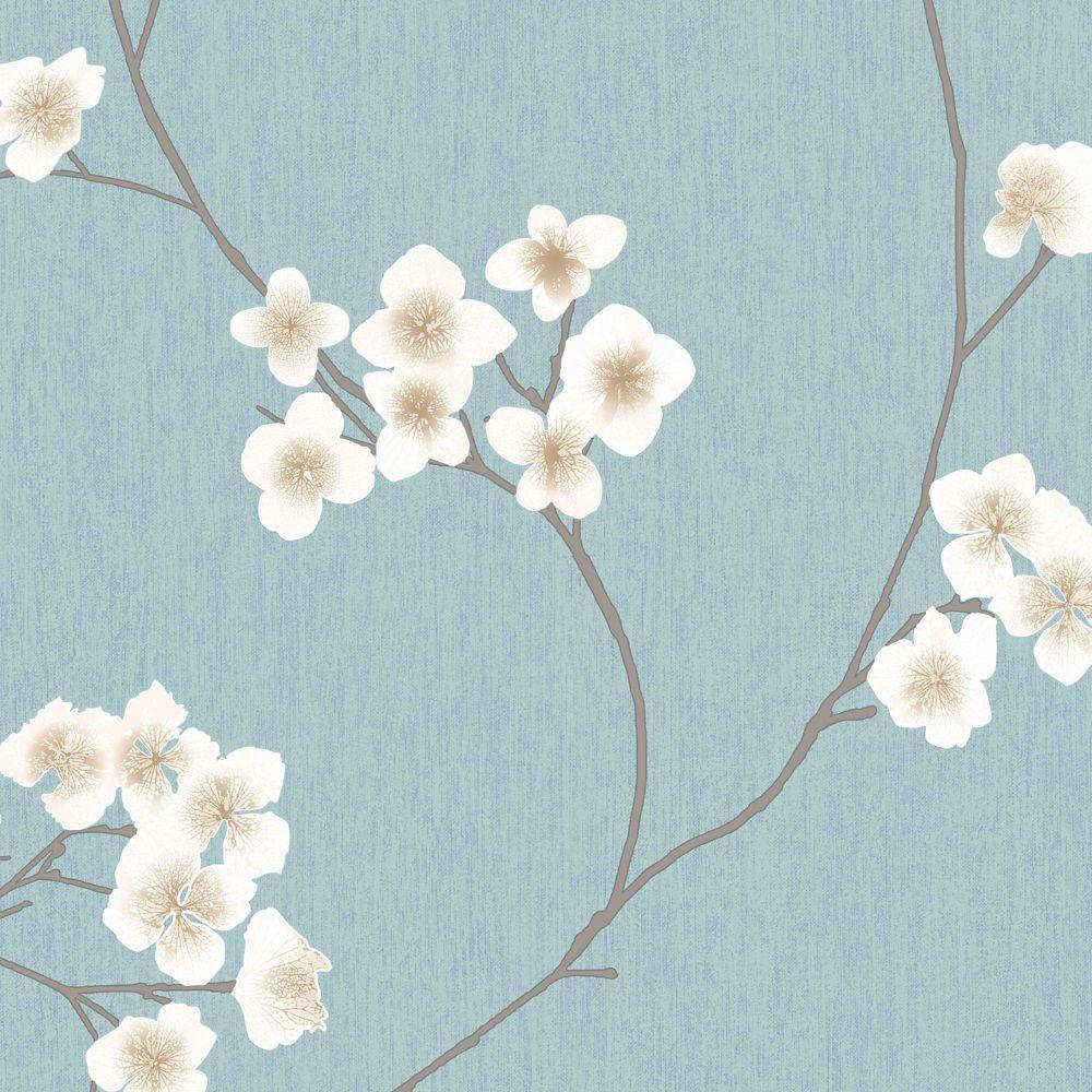 Radiance Blue/Brown/Cream Wallpaper