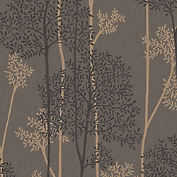 Graham & Brown Chocolate and Bronze Eternal Wallpaper
