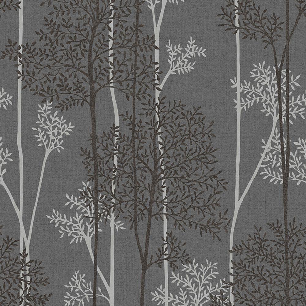Eternal Charcoal/Silver Innocence Wallpaper