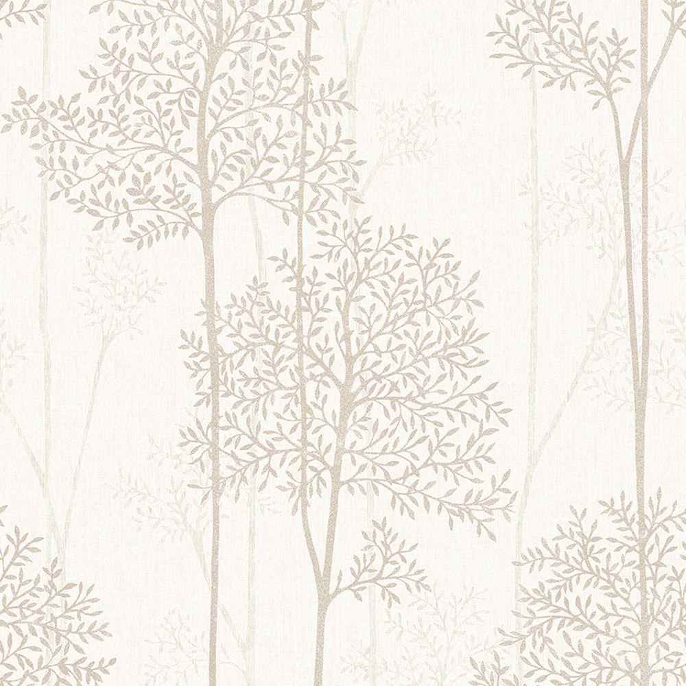 Graham & Brown Trippy Orange/Brown/Cream Wallpaper