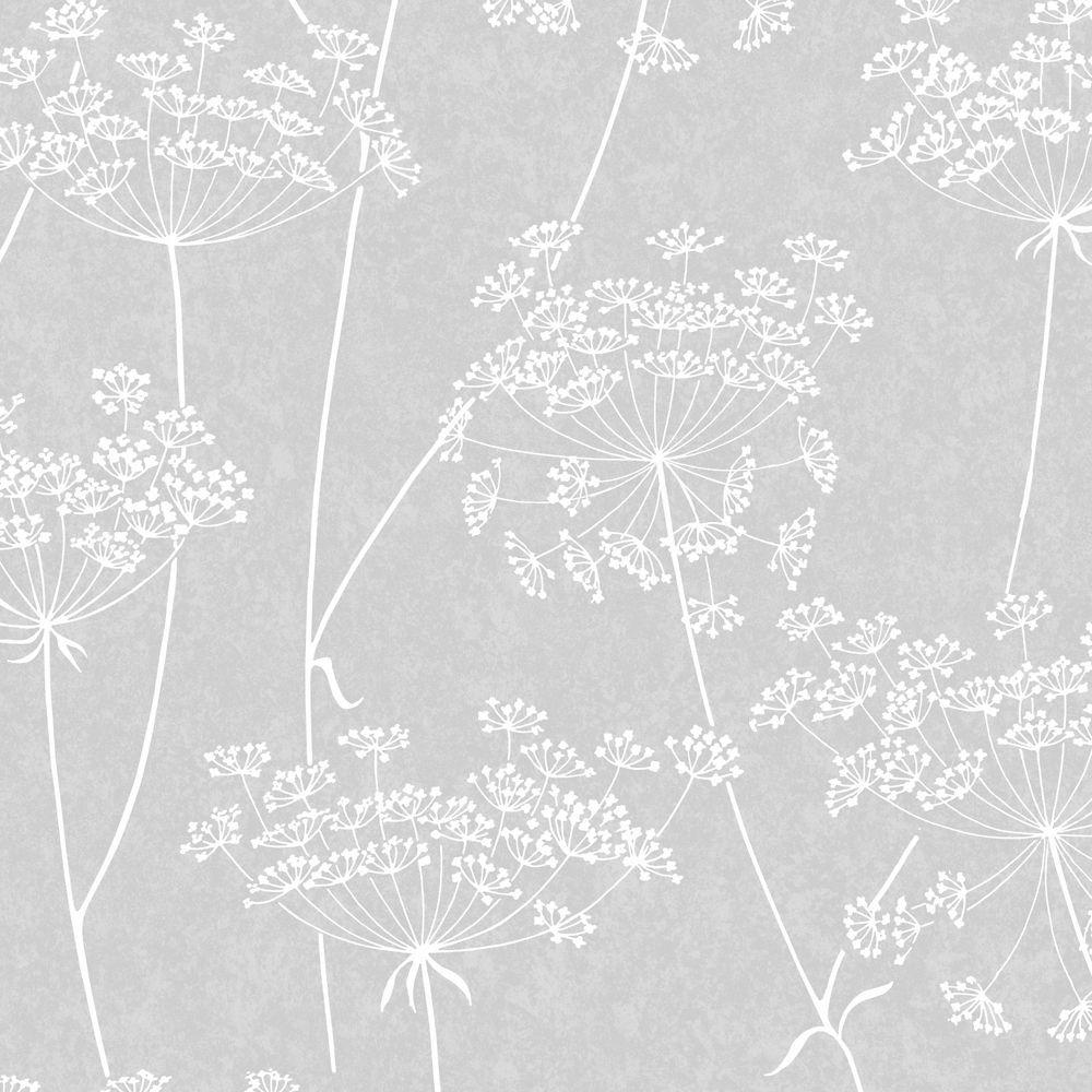 Aura Grey/White/Silver Wallpaper
