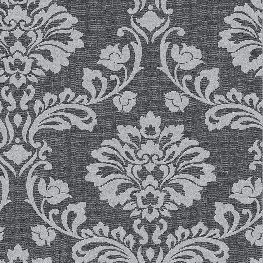 Aurora Black/Grey Wallpaper